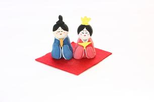 紙粘土手作りひな人形の素材 [FYI00429039]