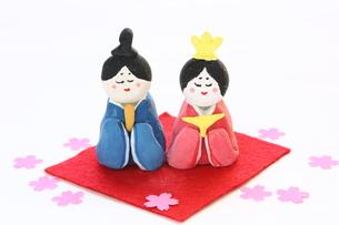 紙粘土手作りひな人形の写真素材 [FYI00429052]