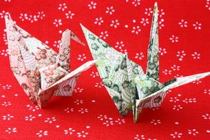 折り紙の鶴の写真素材 [FYI00429130]