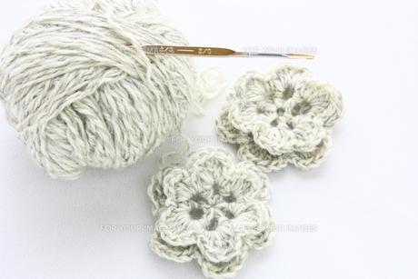 手編みの花の写真素材 [FYI00429182]