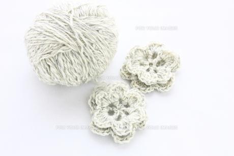 毛糸の花の写真素材 [FYI00429193]