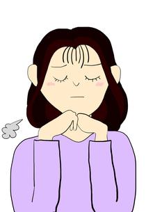 ため息をつく女性の写真素材 [FYI00429212]