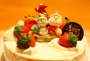 クリスマスケーキの写真素材 [FYI00429244]