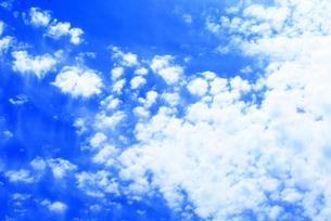 夏の青空と白い雲の写真素材 [FYI00429598]