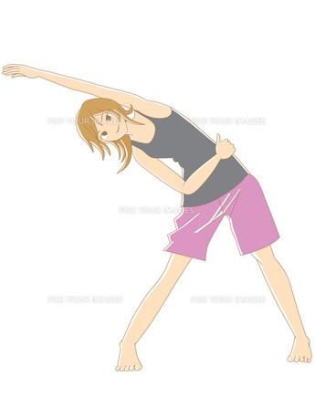 ストレッチをする女性の写真素材 [FYI00429729]