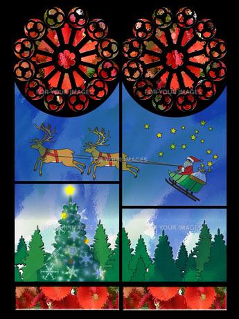 クリスマスのステンドグラスの写真素材 [FYI00429737]