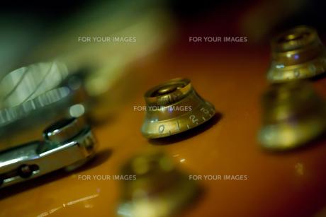 エレキギターのアップの写真素材 [FYI00429884]