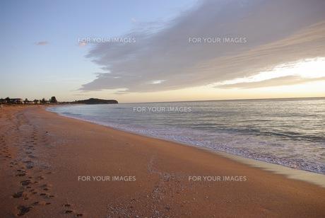 早朝の海岸の写真素材 [FYI00429905]
