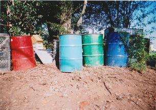 五色ドラム缶の写真素材 [FYI00429932]