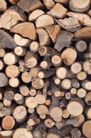 積み上げられた、薪の写真素材 [FYI00430253]