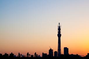 夕暮れの東京の写真素材 [FYI00430586]