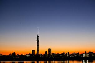 夕暮れの東京の写真素材 [FYI00430628]