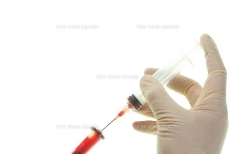 採血管とシリンジの素材 [FYI00430845]