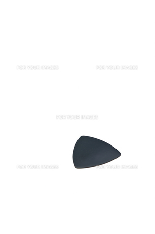 黒いギターピックの写真素材 [FYI00432060]