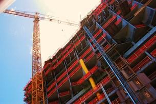 ハワイの建設中建物の写真素材 [FYI00432722]