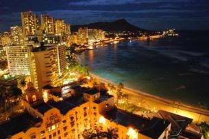 ハワイの夜景の写真素材 [FYI00432727]