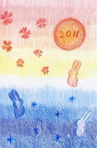 2011年卯年の素材 [FYI00432852]