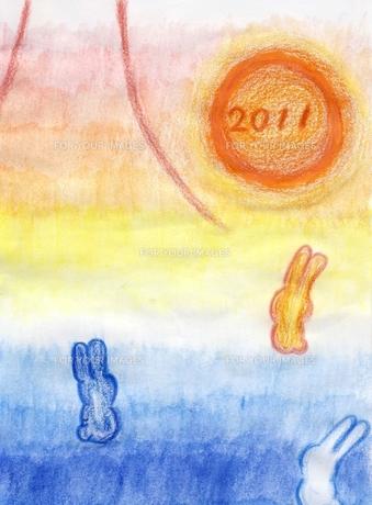2011年卯年の素材 [FYI00432856]