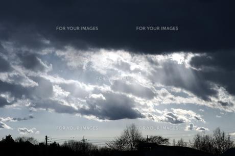 冬の黒雲の素材 [FYI00432884]
