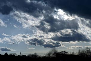 冬の黒雲の素材 [FYI00432886]