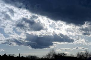 冬の黒雲の素材 [FYI00432888]