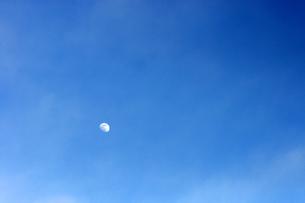 真昼の月の素材 [FYI00432892]