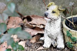 犬の置物の写真素材 [FYI00432913]