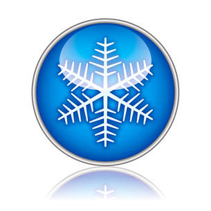 雪の結晶アイコンの写真素材 [FYI00432955]