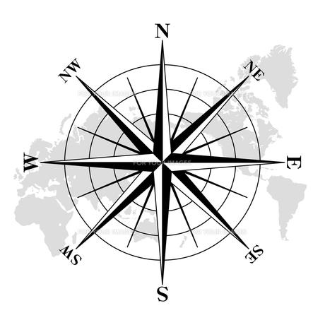 世界地図とコンパスの写真素材 [FYI00433039]