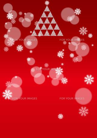 クリスマスツリー レッドの写真素材 [FYI00433124]