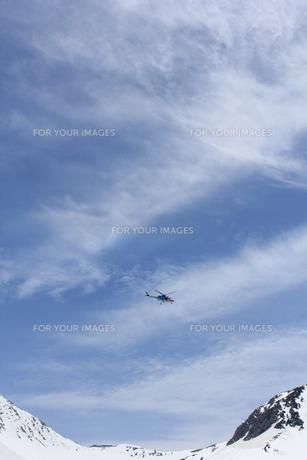 立山で活躍するヘリコプターの写真素材 [FYI00433212]