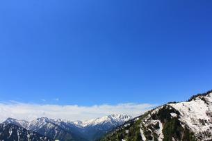 山並みと青空と雲の写真素材 [FYI00433218]