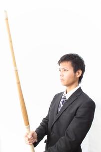 剣道とビジネスマンの写真素材 [FYI00434065]