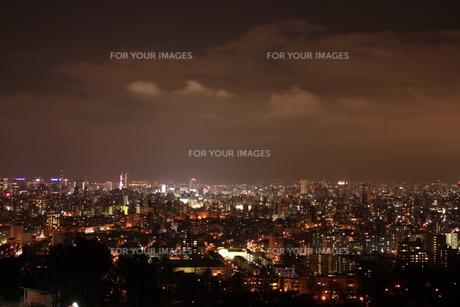 札幌市の夜景の素材 [FYI00435376]