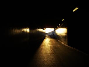 夕日に反射するトンネルの写真素材 [FYI00435454]