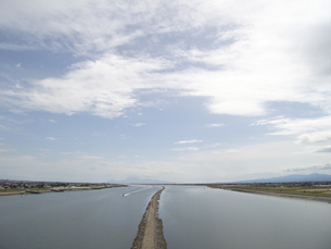 筑後川河口のデ・レーケ導流堤の写真素材 [FYI00435456]