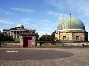イギリスの世界遺産「エディンバラ」のカールトンヒルにある旧天文台の写真素材 [FYI00435536]
