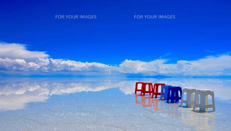 ウユニ塩湖の写真素材 [FYI00435660]