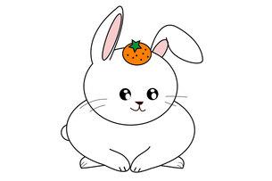 おそなえウサギの写真素材 [FYI00435859]
