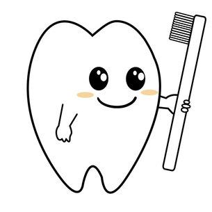 歯磨きデント君の写真素材 [FYI00435862]
