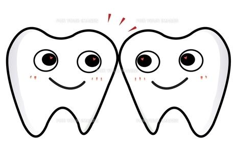 2本の歯がごっつんの写真素材 [FYI00435904]
