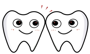 2本の歯がごっつんの素材 [FYI00435904]