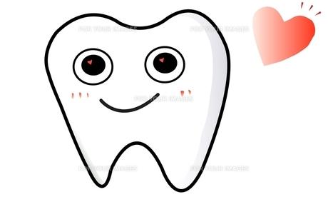 かわいい歯のイラストの写真素材 [FYI00435905]