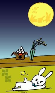 お月見うさチャンの写真素材 [FYI00435909]