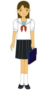 夏服の高校生の写真素材 [FYI00435937]