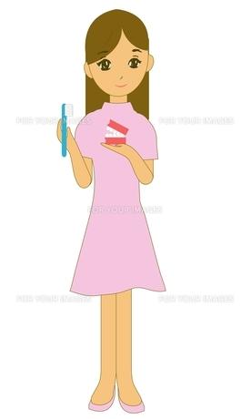 衛生士歯磨き指導の写真素材 [FYI00435942]