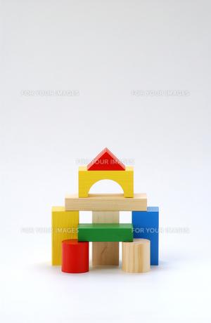 積み木の家の写真素材 [FYI00435962]