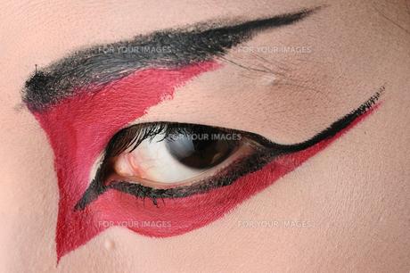 歌舞伎メイクの睨みの写真素材 [FYI00435983]