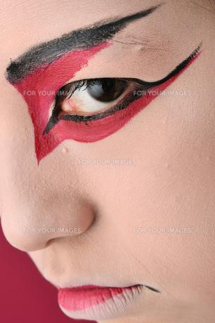 歌舞伎の睨みの写真素材 [FYI00435987]
