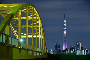 スカイツリーと鉄橋の写真素材 [FYI00436000]